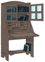 Bookcase with Desk Plans