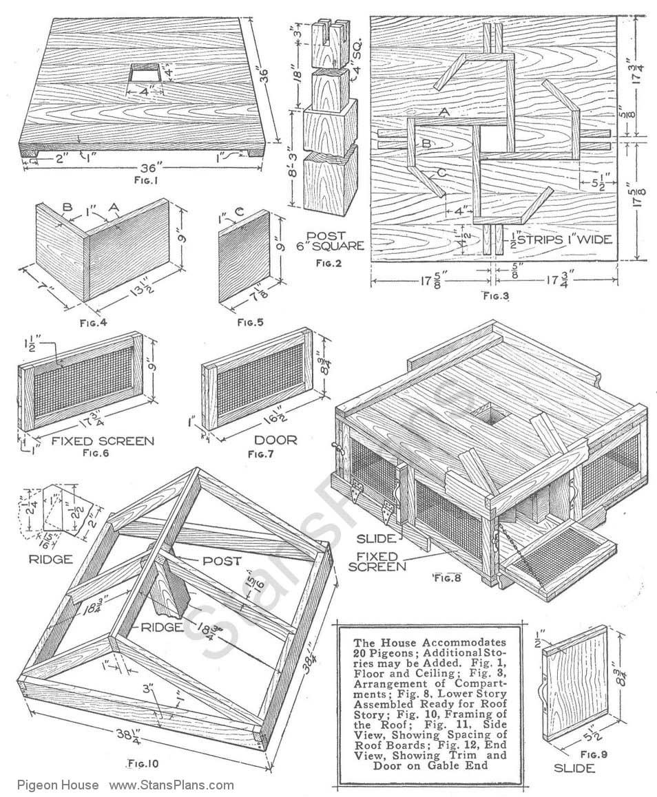 Pigeon House Plans