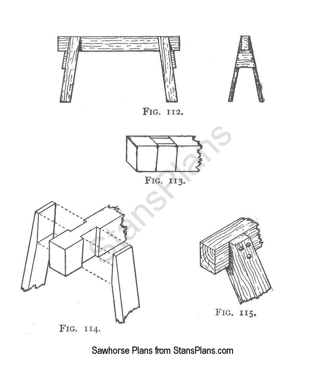 Plans for a Sawhorse Plans - Printable