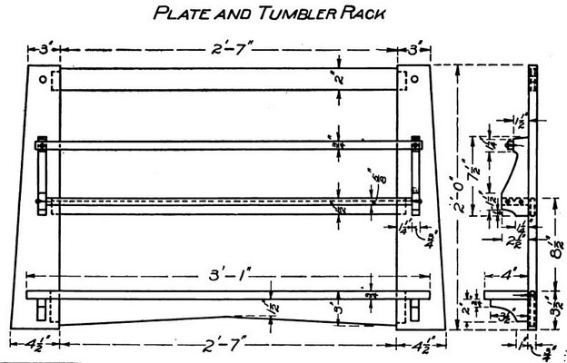 Glass and Plate Rack Plans