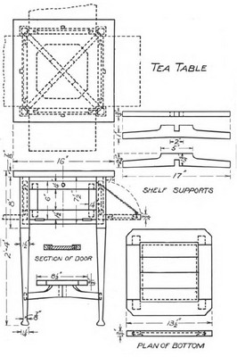 Small Tea Table Plans With Drop-Down Shelf