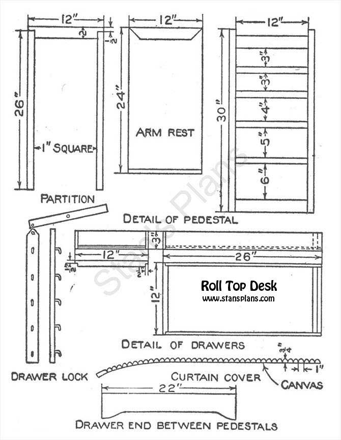 Plans For A Roll Top Desk Printable