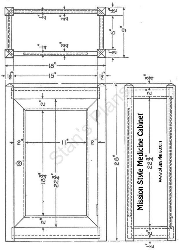 Printable Plans for a Mission Medicine Cabinet